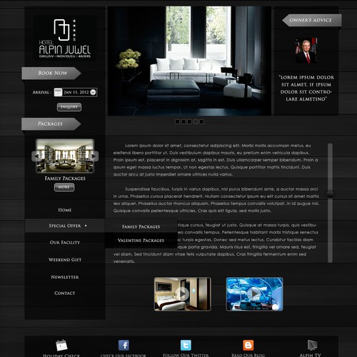 Hotel Alpin Juwel  needs a new website design