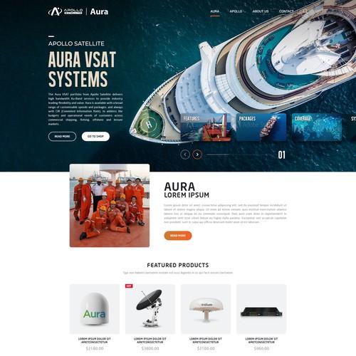 Apollo Satellite - Aura VSAT Systems Landing page design