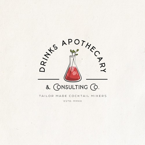 Logo Design for Drinks Apothecary