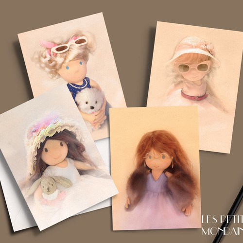 Greeting cards design (hand made dolls)