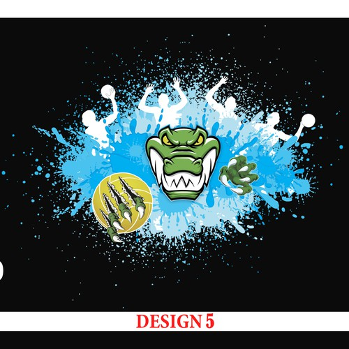 Crocodile Bathers pattern design