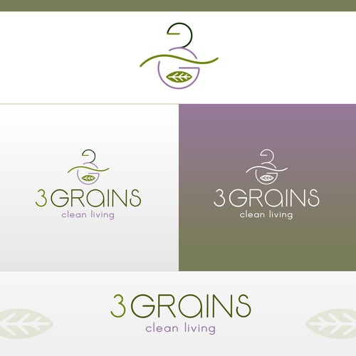 Logo concept for healthy food shop.