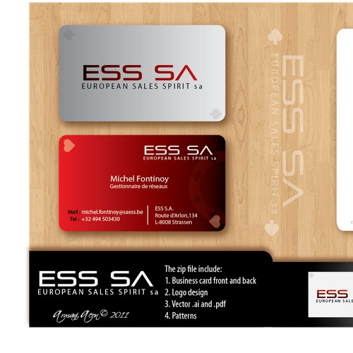 Create the next stationery for ESS sa (European Sales Spirit sa)