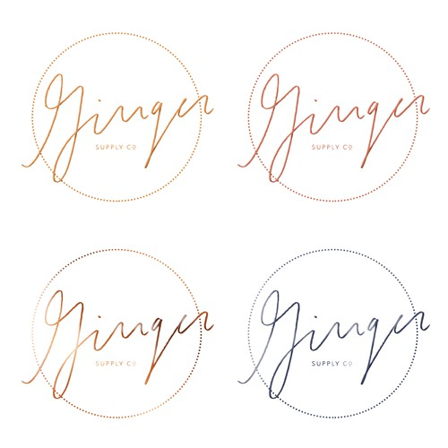 Ginger Supply Co Logo Options