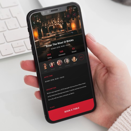 Bar/ Night club Mobile App Design