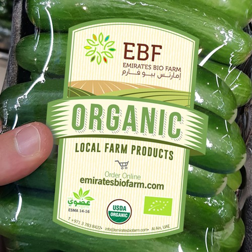 Label for organic farm packaging products.