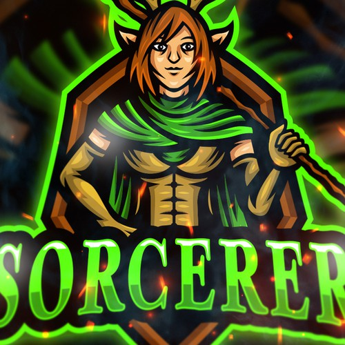 Sorcerer Mascot Logo