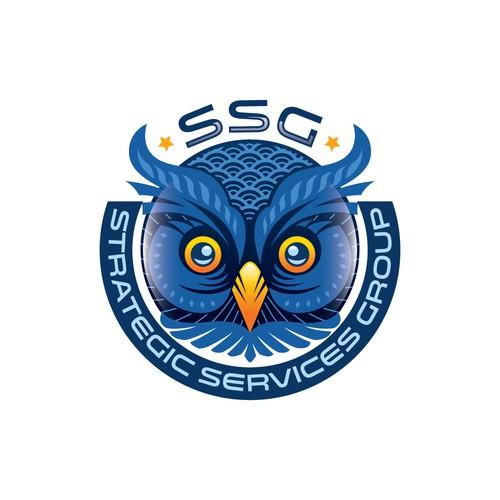 A concept logo for strategic services
