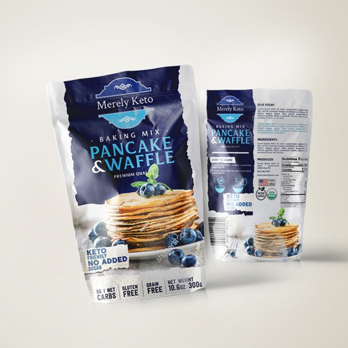 Merely Keto Premium Pancake & Waffle Mix