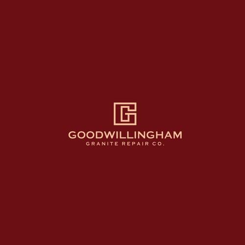 letter G geometric logo concept