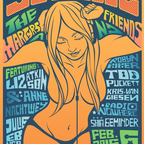 50Cheese - a Fillmore style event poster