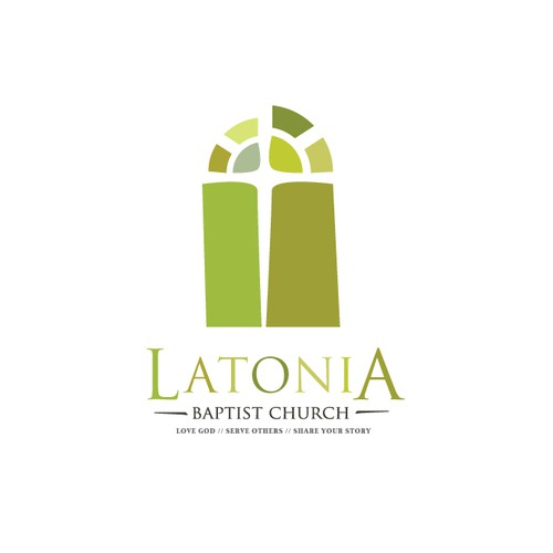 Create a church logo that can be used for web and printed media.