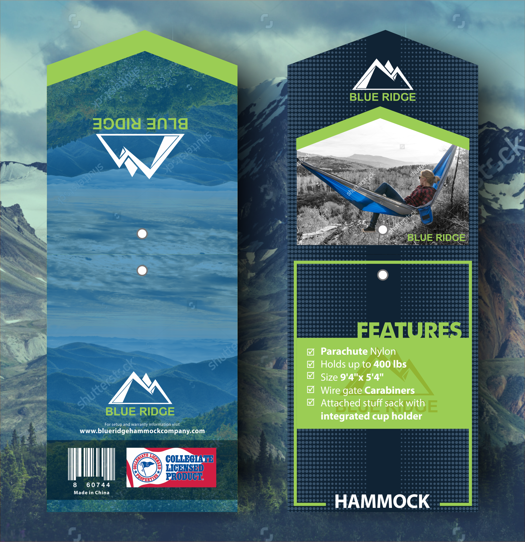 Design a officially licensed hammock hang tag