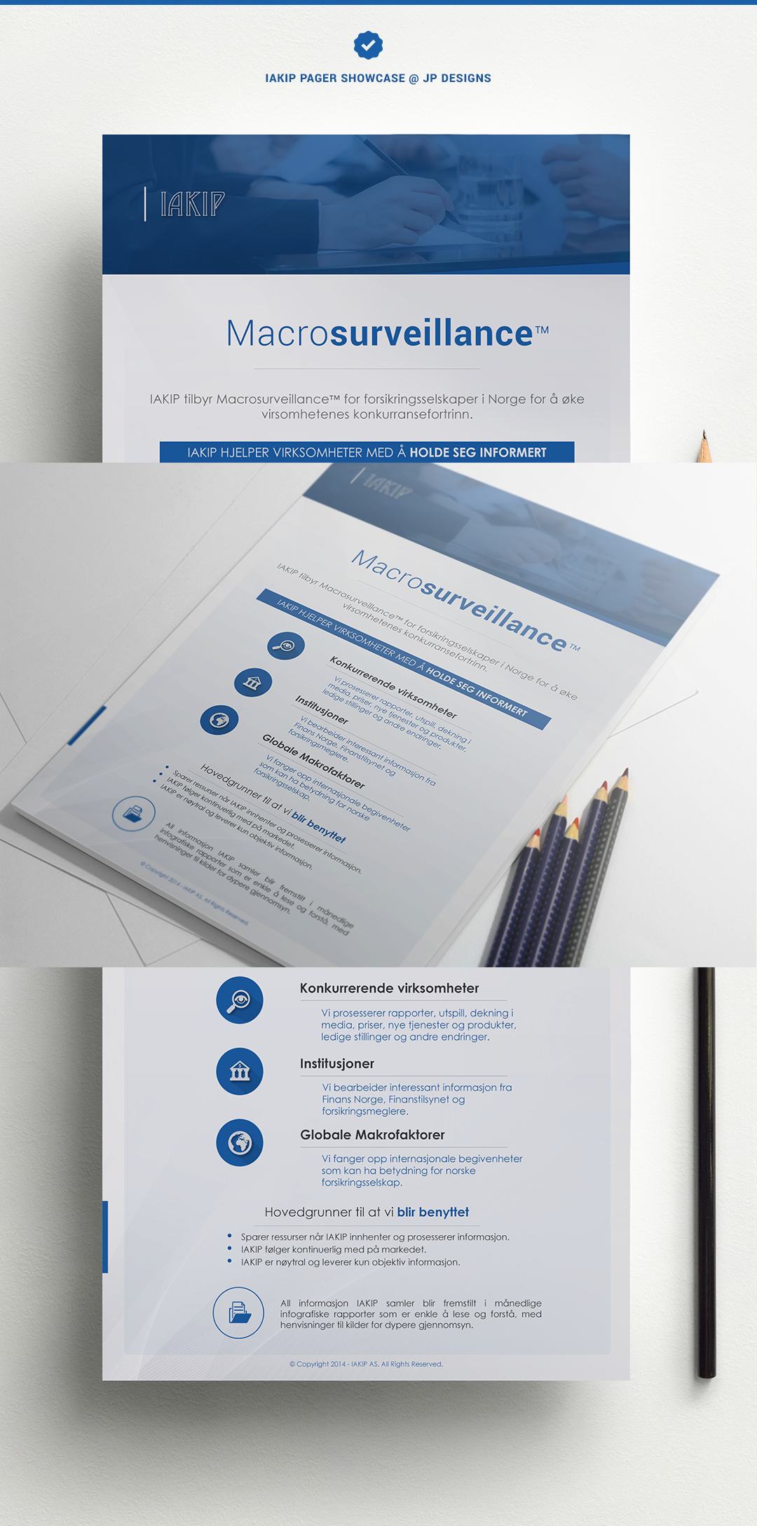 """Longterm and Recurring Design Project: Business """"OnePager"""" Presentation"""