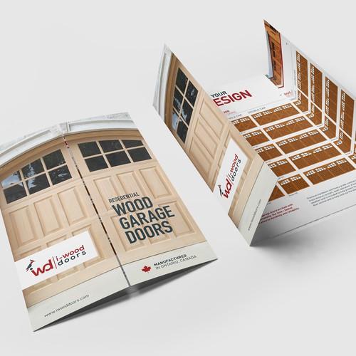 i-Wood GateFold Brochure Design