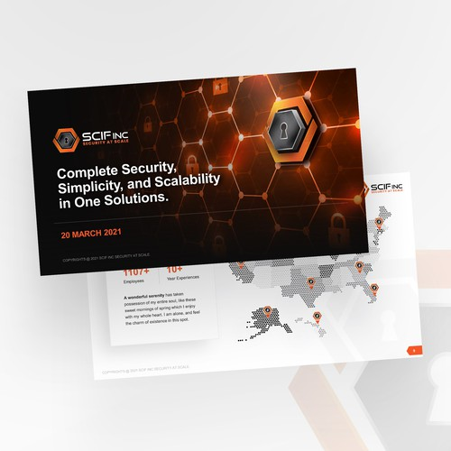 Presentation Template for Security System