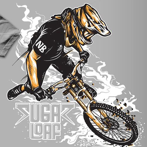 Stylish T-Shirt for Sugarloaf Mountain Bike Park