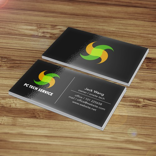 Logo and bus. card for pc service