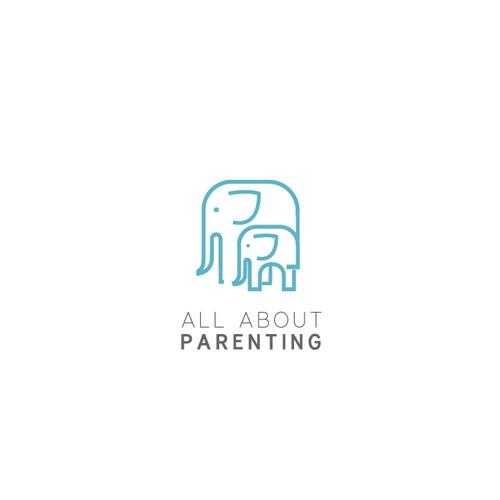 powerful logo for All About Parenting