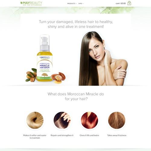 Design WebPage MAYBEAUTY