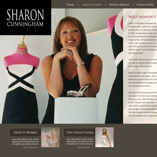 Couture London Dress Designer web site to be re- designed.