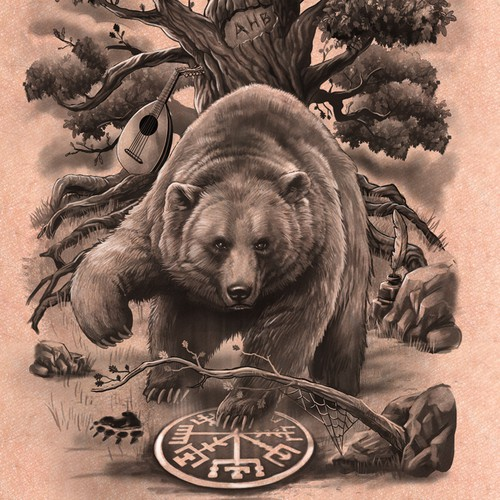 Grizzly Bear Sleeve tattoo