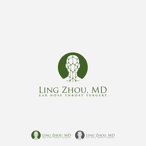 Logo and Website for a Ear Nose and Throat Surgeon