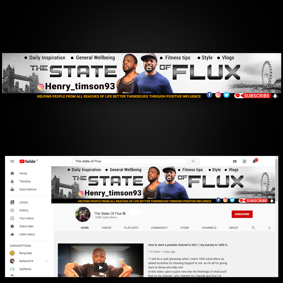up and coming youtuber looking for a designer to create a channel banner