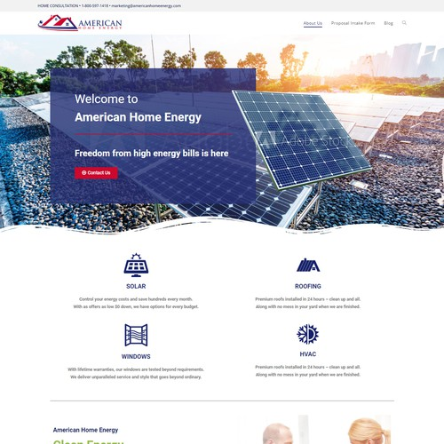 Website design for American Home Energy