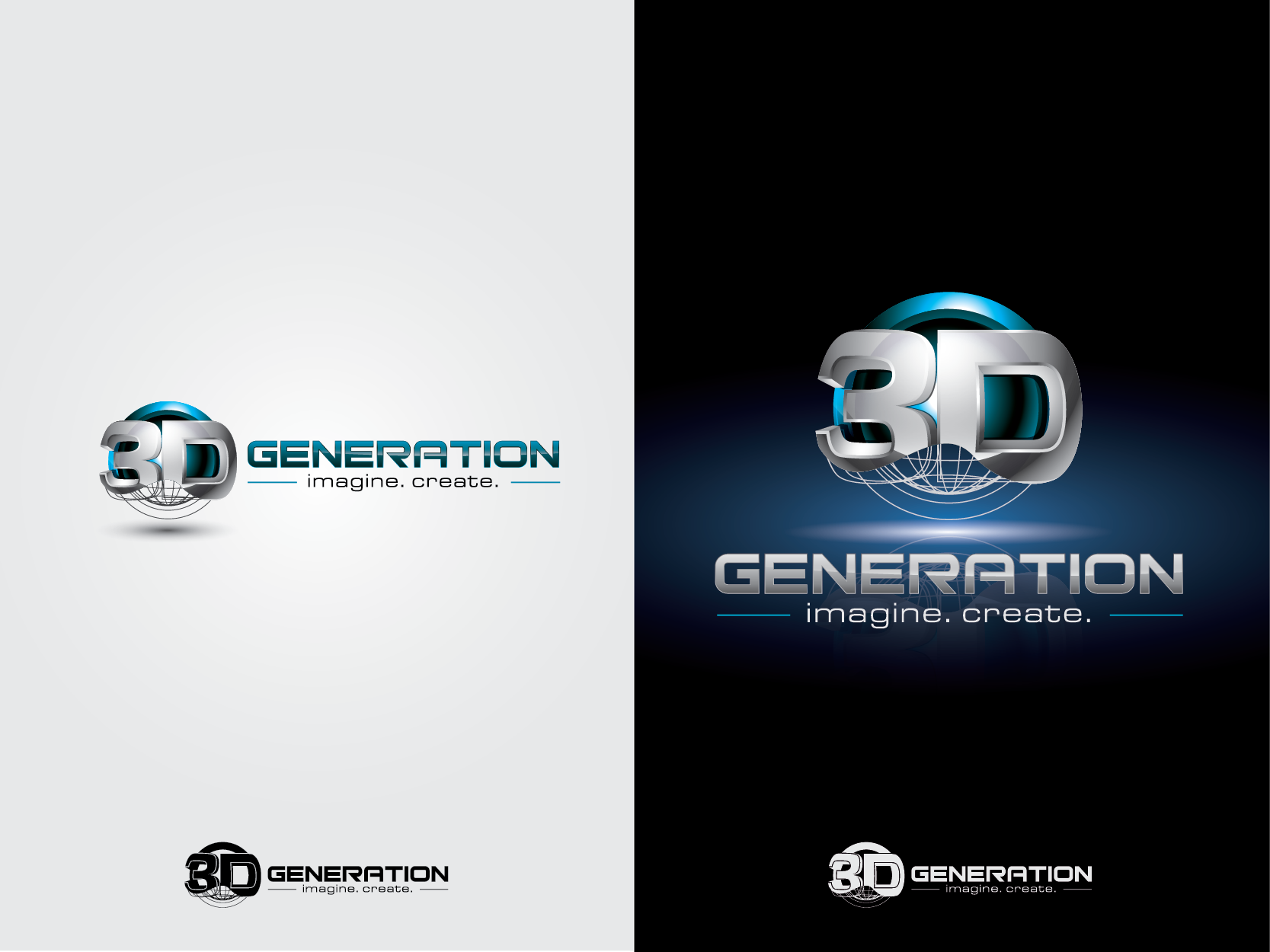 Help 3d generation Ltd with a new logo