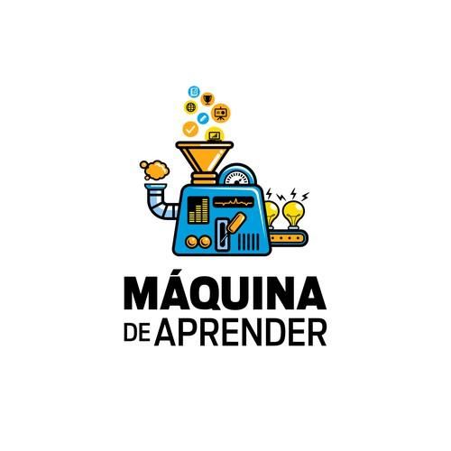 MÁQUINA DE APRENDER - LOGO DESIGN