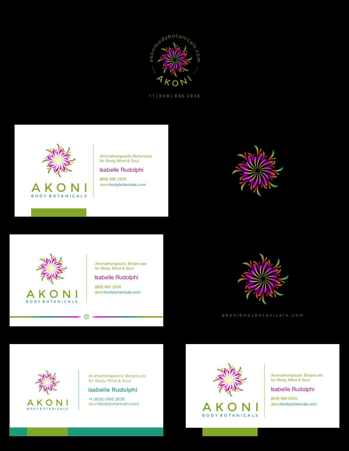 akoni body botanical logo