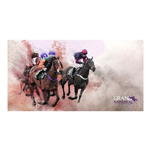 Illustration for the Grand National horse race