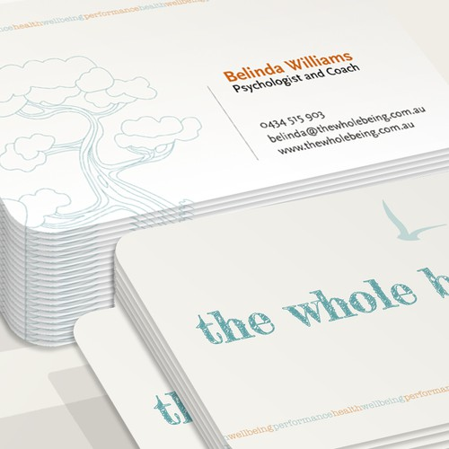 Craft health and wellbeing business card and letterhead