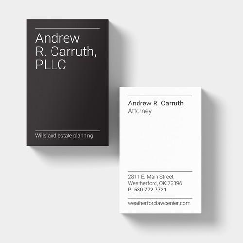 Typographic business cards design