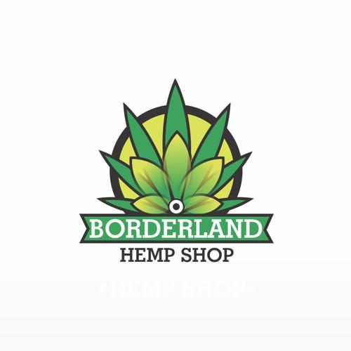 Winning design for Borderland Hempshop