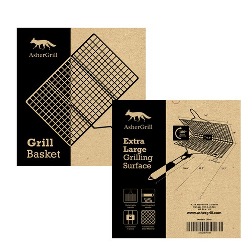 One color box design for Grill basket