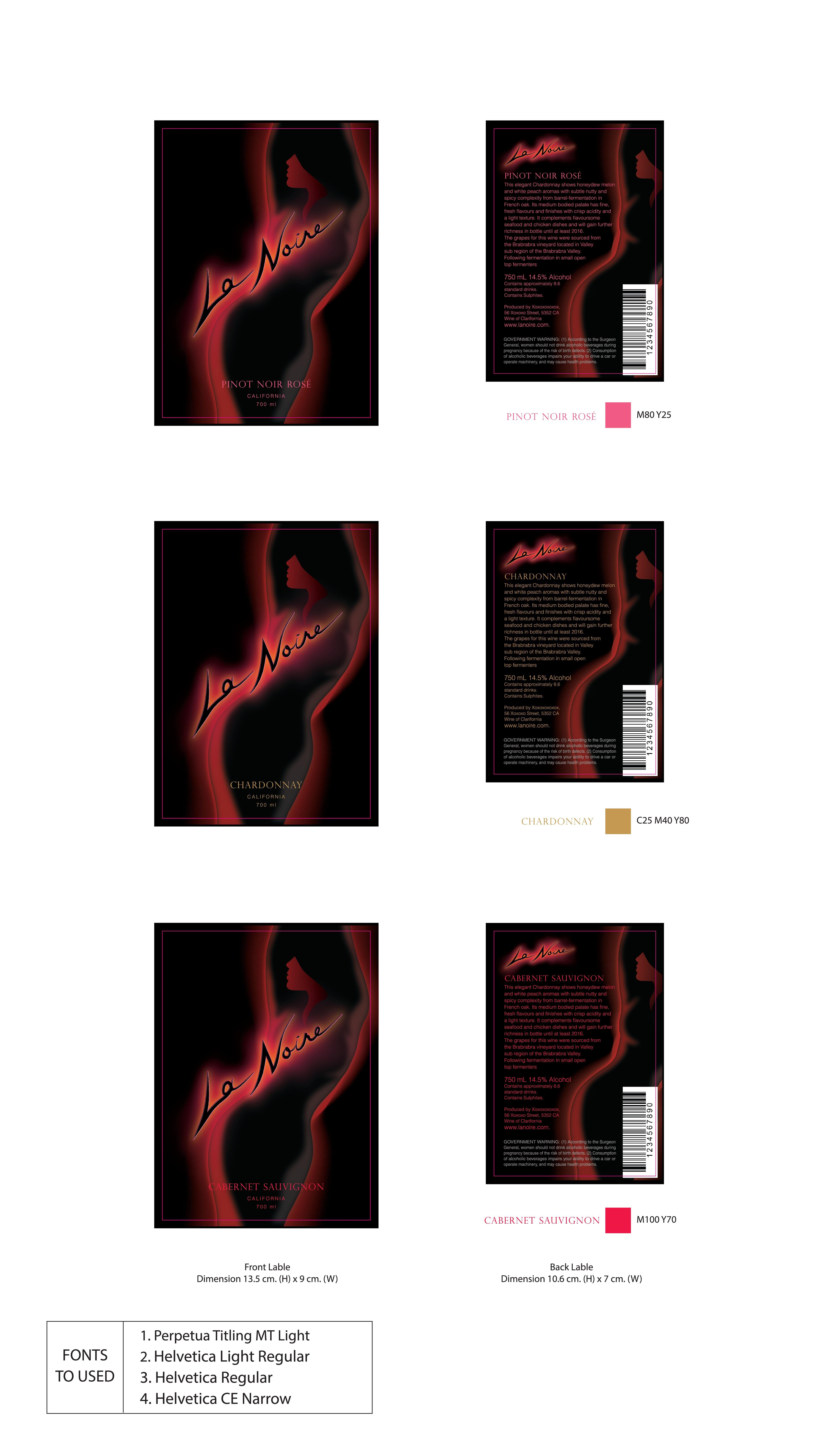 Create a La Noire Wine Label!