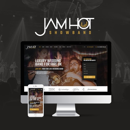 Website for music show band