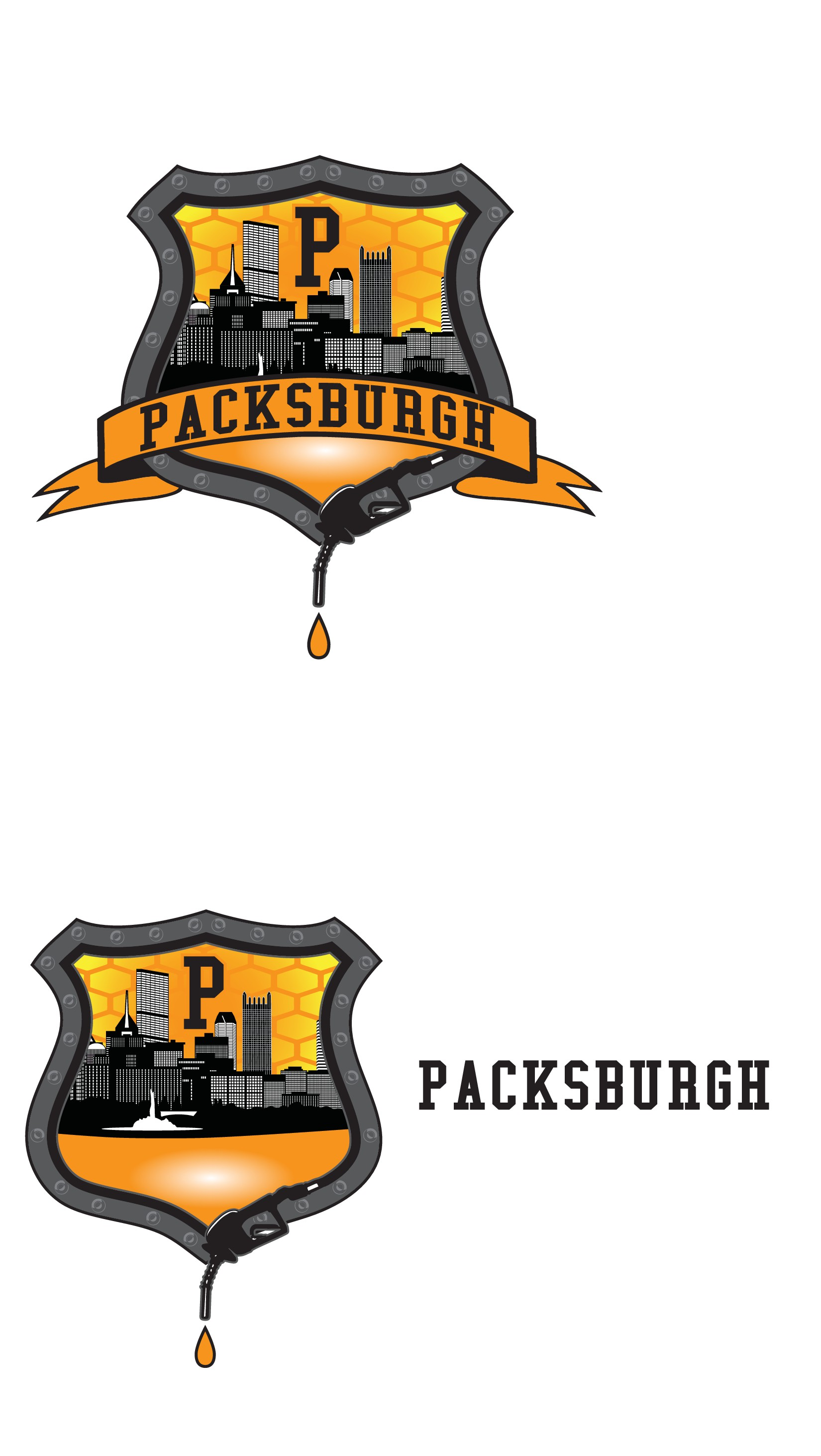 Represent my city, Pittsburgh, in a sophisticated, but modern coat of arms