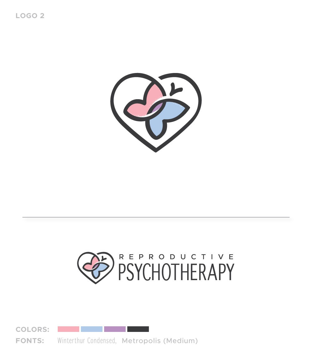 Design a warm, comforting logo for infertility therapy practice