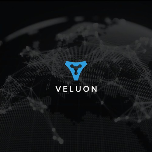 Design a logo for 'Veluon', a next generation product development company.