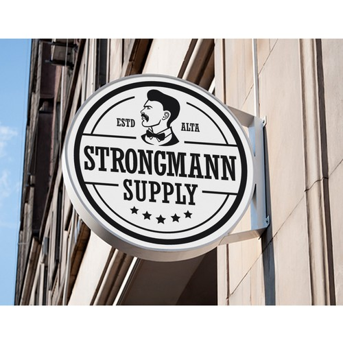 Logo concept for Strongmann Supply
