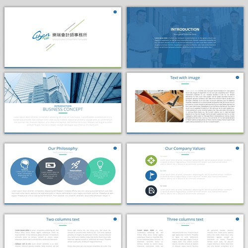 PowerPoint presentation for Accounting & Financial Hong Kong based company
