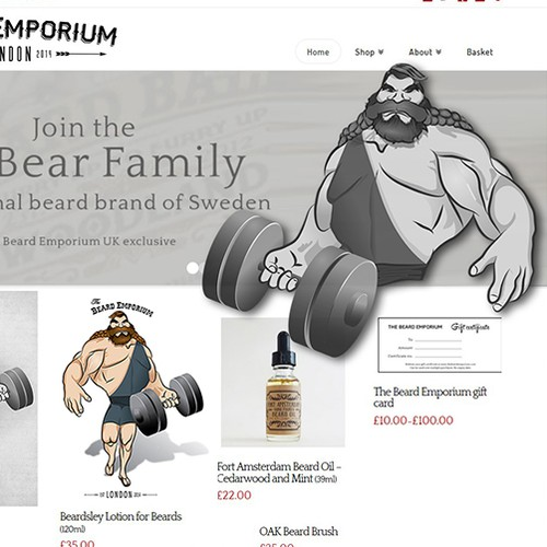 Strongman character design creation for The Beard Emporium.com