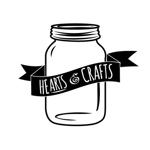 Hearts and Crafts Mason Jar design