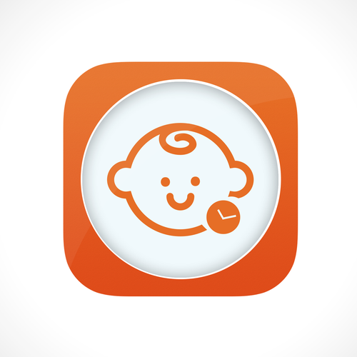 App Icon for BabyTime (iOS7 style)