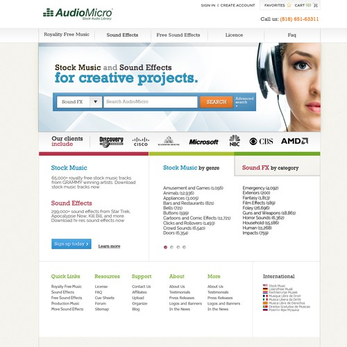 Website Makeover for AudioMicro, Inc - Guaranteed Payment & Multiple Winners!