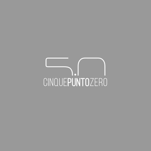 Simple logo for modern house furniture: cinquepuntozero