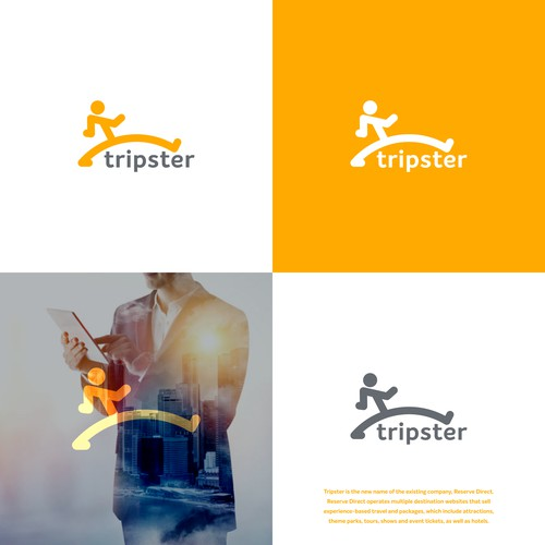 Tripster logo concept